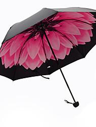 Vermelho Guarda-Chuva Dobrável Sombrinha Plastic Carrinho