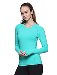 Running Sweatshirt / Tracksuit / Crop / Tops Women's Long Sleeve LYCRA® Climbing / Exercise & Fitness / Golf / Racing / Badminton Sports