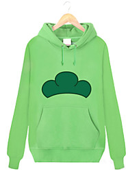 Inspirado por Fantasias Fantasias Anime Fantasias de Cosplay Hoodies cosplay Estampado Verde Manga Comprida Top