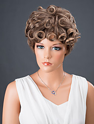 Short Bouncy Colormix Curly Synthetic Wig