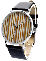 Men's Women's Unisex Sport Watch Fashion Watch Wood Watch / Quartz Japanese Quartz Leather Band Charm Casual Black