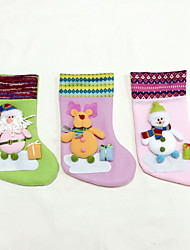 High Quality M Size Textile Christmas Stocking / Christmas Storage / Ornaments