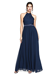 2017 Lanting Bride® Ankle-length Chiffon Beautiful Back Bridesmaid Dress - A-line Jewel with Draping