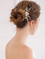 Women's Pearl Crystal Headpiece-Wedding Special Occasion Hair Combs 1 Piece