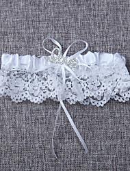 Garter Lace Bowknot White