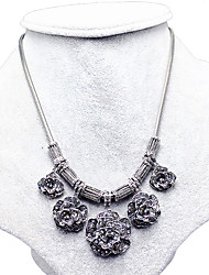 Necklace Sapphire Collar Necklaces Jewelry Wedding / Party / Daily Flower Flower Style Sterling Silver Women 1pc Gift Silver