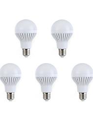 5шт E27 7W 12 SMD 5630 Теплый белый / белый привело лампочки глобус мяч луковицы (AC 220V)