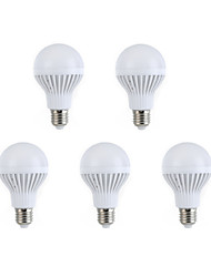 5pcs e27 7w 12 smd 5630 branco morno / branco levou lâmpadas globo bola bulbos (220V AC)