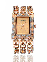 Women's Fashion Watch Bracelet Watch Casual Watch Water Resistant / Water Proof Rhinestone Quartz Stainless Steel Band Sparkle Casual Gold