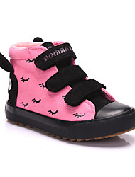 Girl's Sneakers Fall / Winter Comfort Suede Casual Platform Magic Tape Fuchsia / Burgundy Others