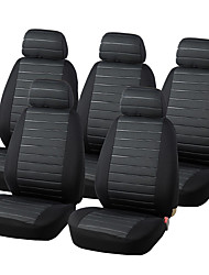 AUTOYOUTH 15PCS Van Seat Covers Airbag Compatible 5MM Foam Universal 5x Seater Seats Checkered Interior Accessories
