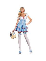 Fête / Célébration Déguisement Halloween Bleu & blanc Couleur Pleine Jupe / Plus d'accessoires / Coiffure Halloween / Noël / Carnaval