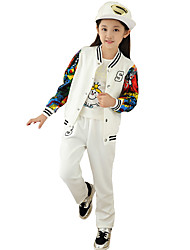 Girls Fashion Han Edition Baseball Uniform During Spring Autumn Fashion Leisure Sports Two-Piece Outfit