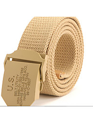 US thickening canvas belt smooth buckle belt casual men's belt wholesale