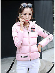 Sign winter fashion new Korean short paragraph Slim Down padded hooded warm coat female