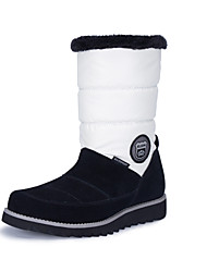 SUDN Women's Snow sports Mid-Calf Boots Winter Anti-Slip / Waterproof / Breathable Shoes White / Black