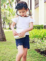 Girl Casual/Daily / Sports Solid Shorts-Cotton / Lace Winter / Fall