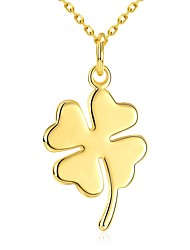 Valentine's Day Romantic Four Leaf Clover 18K Gold Plated Pendant Necklace for Women Clover Necklace Pendant Necklaces for Lover