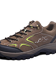 Sneakers Hiking Shoes Mountaineer Shoes Men's Anti-Slip Anti-Shake/Damping Wearable Breathable Sweat-Wicking Outdoor Low-TopFabric Nubuck
