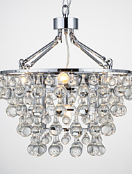 Chandelier ,  Traditional/Classic Chrome Feature for Crystal Metal Bedroom Dining Room Hallway