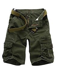 Men's Shorts , Casual/Sport/Plus Sizes Print/Plaids & Checks Cotton Blend