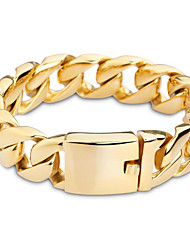 Kalen 18K Egyptian Gold Plated Link Chain Bracelet 316 Stainless Steel High Polished Hand Chain Bracelet Fashion Male Jewelry Gifts