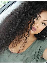 onda de água do cabelo humano glueless rendas frente peruca para as mulheres negras