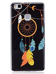 Pour Phosphorescent / IMD / Motif Coque Coque Arrière Coque Attrapeur de rêves Flexible TPU pour Huawei Huawei P9 Lite / Huawei P8 Lite