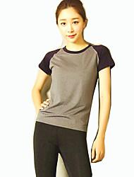 Laufen T-shirt Damen Kurze Ärmel Atmungsaktiv Elastan Freizeit Sport / Laufen Sportbekleidung SchlankOutdoor Kleidung / Freizeit Sport /