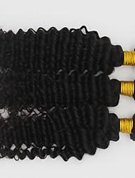3 Piezas Ondulado Medio Cabello humano teje Cabello Brasileño 300g 8-30inch Extensiones de cabello humano
