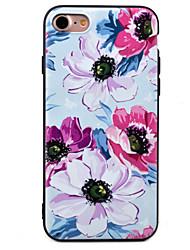 Pour Motif Coque Coque Arrière Coque Fleur Flexible TPU pour Apple iPhone 7 Plus / iPhone 7 / iPhone 6s Plus/6 Plus / iPhone 6s/6