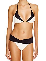 Bikinis Aux femmes Licou Polyester