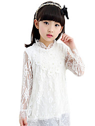 Girl's Casual/Daily Solid Dress,Cotton Blend Summer ½ Length Sleeve