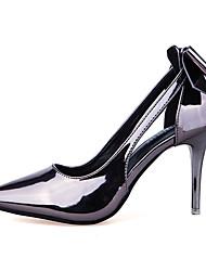 Damen-High Heels-Kleid-Kunstleder-Stöckelabsatz-Komfort-Schwarz / Silber / Champagner