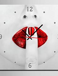 Moderne/Contemporain Autres Horloge murale,Carré Toile40 x 40cm(16inchx16inch)x1pcs/ 50 x 50cm(20inchx20inch)x1pcs/ 60 x