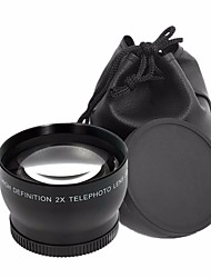 37mm Telephoto Lens 2.0X 37 mm 2X Optical Tele Lenses  Bag  Front  Back Cap 46mm for Camera Camcorder