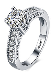 Fashion Classic Designer 3 Round CZ Diamond Paved Engagement Rings Sets For Women  Plated Crystal Wedding Ring Jewelry