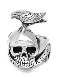Men's Statement Rings Sterling Silver Skull / Skeleton Jewelry For Daily Casual