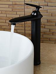 antique generalizada única alça de um buraco em bronze torneira pia do banheiro esfregou-óleo