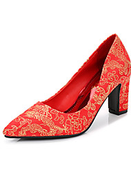 Women's Heels Fall Comfort Fabric Wedding Low Heel Others Red Walking
