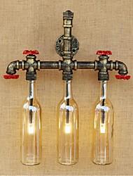 AC 220v-240v 9w Е27 bgb013 ретро промышленный переключатель ветер привел бутылку воды Настенный светильник Настенный светильник янтарь