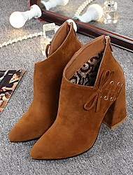 Women's Boots Others Leatherette Casual Black / Brown