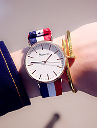 Women's Fashion Watch Quartz Colorful Fabric Band Casual Blue Brand Watch