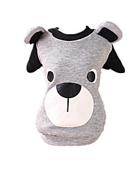 Dog Sweatshirt Black / Gray Dog Clothes Winter / Spring/Fall Bear Cute / Casual/Daily / Keep Warm
