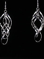 Gold Silver Earring Non Stone Drop Earrings Jewelry Women Wedding / Party / Daily / Casual Alloy 1 pair Gold / Silver