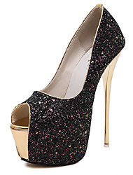 Women's Heels Summer / Fall Gladiator Glitter Office & Career / Party & Evening / Dress / Casual Stiletto Heel Black / Pink / White