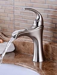Nickel Brushed Single Handle One Hole Bathroom Sink Faucet