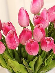 1 Ramo Plástico Outras Tulipas Outras Flor de Mesa Flores artificiais