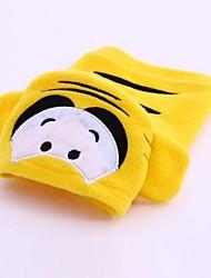 Cães Fantasias Camisola com Capuz Amarelo Roupas para Cães Inverno Primavera/Outono Desenhos Animados Fofo Fantasias