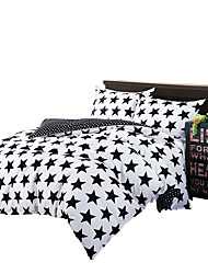 Mingjie Black Stars Bedding Sets 4PCS for Twin Full QueenSize from China Contian 1 Duvet Cover 1 Flatsheet 2 Pillowcases